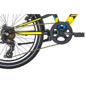 s'cool XXlite 20 7-S Børnecykel steel gul/sort
